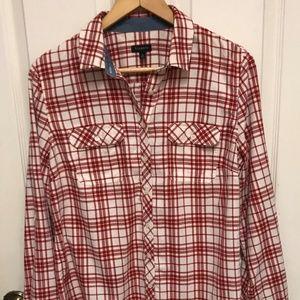 Talbots Womens Plaid Flannel Shirt Sz.10